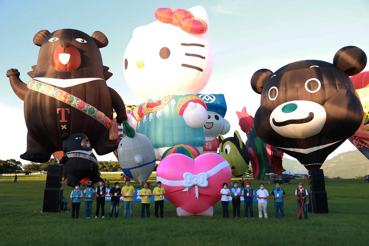 臺北熊讚熱氣球於臺東國際熱氣球嘉年華首航Bravo x Hello Kitty全場最吸睛組合